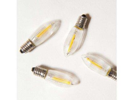 LED čirá žárovka FILAMENT pro svícen 34V/0,25W, balení 100 ks