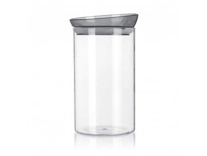 BANQUET Dóza skleněná MABEL 1850 ml, šedá
