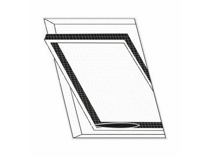 Síť proti hmyzu střešní okno 120x140 cm bílá