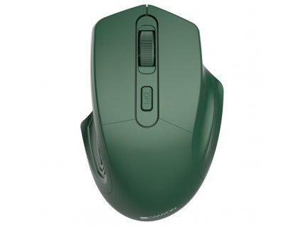 Myš Canyon Pixart MW-15 / optická/ 4 tlačítka/ 1600DPI - zelená