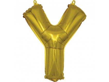 BANQUET Balónek nafukovací foliový písmeno Y, MY PARTY, výška 30 cm