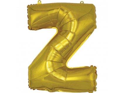 BANQUET Balónek nafukovací foliový písmeno Z, MY PARTY, výška 30 cm
