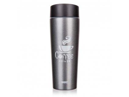 BANQUET Termohrnek COFFEE 350 ml, Grey