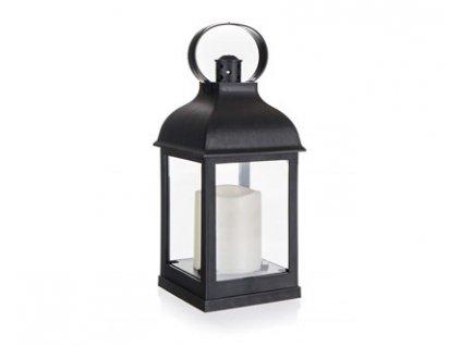 Lucerna plastová s LED svíčkou 10 x 10 x 22 cm
