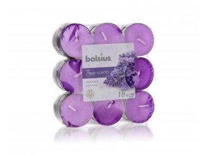 BOLSIUS Svíčka čajová, 18 ks, Lavender