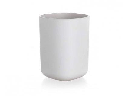 BRILANZ Kelímek na kartáčky plastový 7,7 x 7,7 x 10 cm, bílý