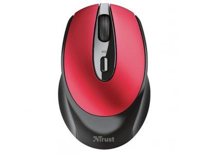 Myš Trust Zaya Rechargeable / optická/ 4 tlačítka/ 1600DPI - červená