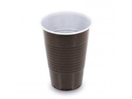 Kávový kelímek plast 0,2l balení 100ks hnědá