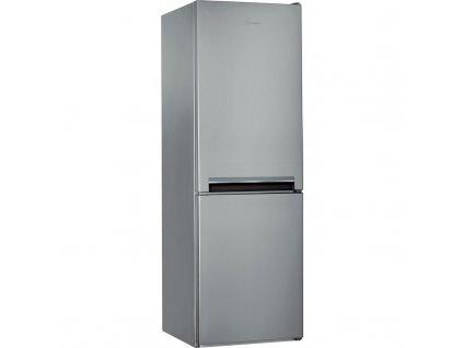 Kombinovaná chladnička Indesit LI7 S1E S, stříbrná