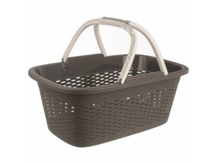 Prádelní koš s držadly LOOP tm. šedý