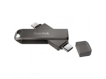 Flash USB Sandisk iXpand Luxe 256GB, USB-C + Lightning - šedý