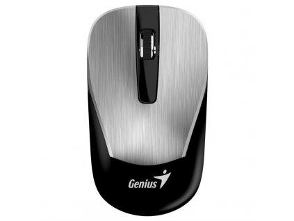 Myš Genius ECO-8015 / optická/ 3 tlačítka/ 1600DPI - stříbrná
