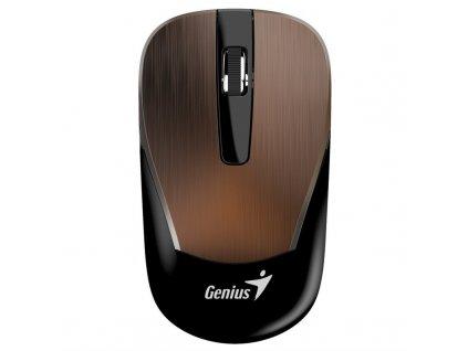 Myš Genius ECO-8015 / optická/ 3 tlačítka/ 1600DPI - hnědá