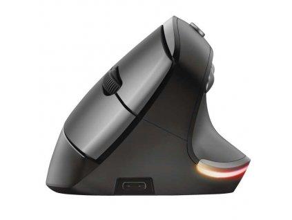 Myš Trust Bayo Ergonomic Rechargeable / optická/ 6 tlačítek/ 2400DPI - černá