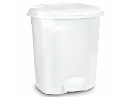 Odpadkový koš nášlapný 50l bílý