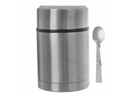 Termonádoba se lžičkou 0,7l stříbrná