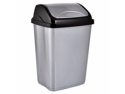 Odpadkový koš VITTARIO 26l šedý