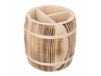 Dřevěný stojan na příbory 15,5cm