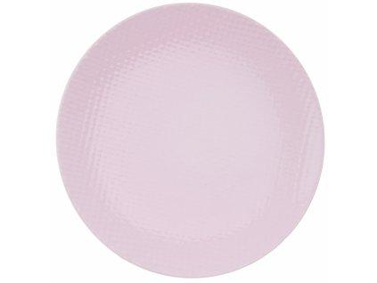 Mělký talíř RELIEF 27,5cm růžový