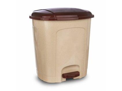 Odpadkový koš nášlapný 11,5 l béžový