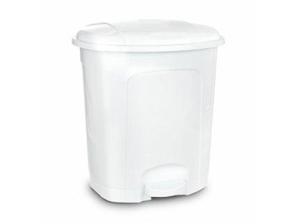 Odpadkový koš nášlapný 11,5l bílý
