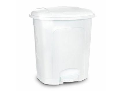 Odpadkový koš nášlapný 21l bílý
