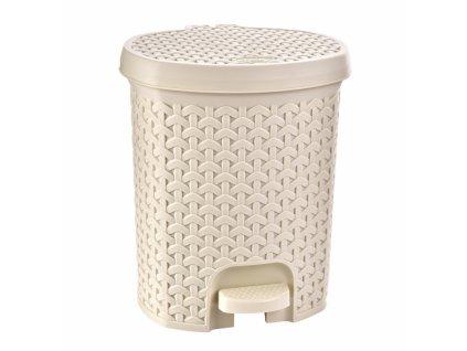 Odpadkový koš RATAN 21l krémový