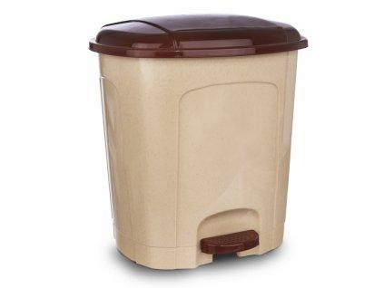 Odpadkový koš nášlapný 30l béžový
