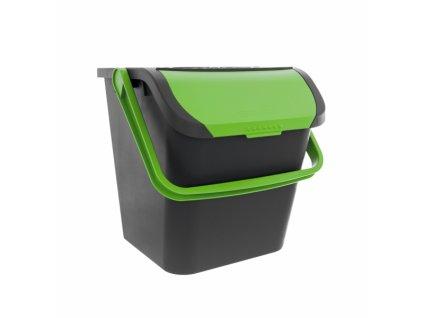 Odpadkový koš EKO na tříděný odpad 28l zelený