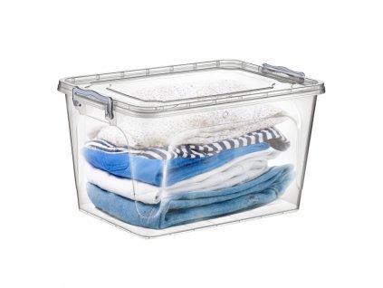 Plastový úložný box s víkem, 25 l
