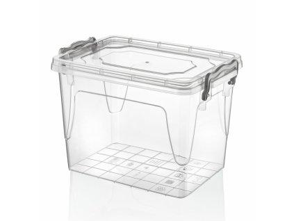 Plastový úložný box s víkem, 13 l