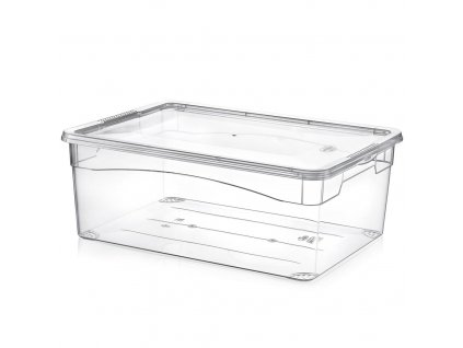 Plastový úložný box s víkem, 10 l