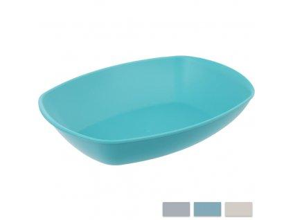 Plastový talíř oválný Sandy 20,5 x 32 cm
