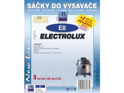Sáčky do vysavače Jolly E 8 (3ks) do vysav. ELECTROLUX