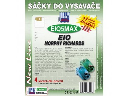 Sáčky do vysavače Jolly MAX EIO 5 (4+1+1ks) do vysav. EIO, MORPHY RICHARDS