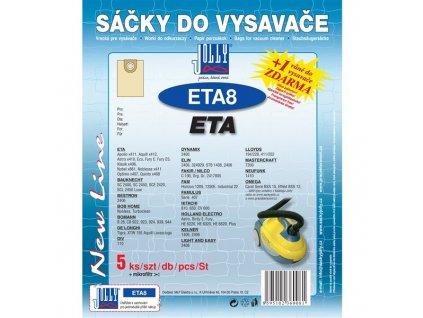 Sáčky do vysavače Jolly ETA 8 (5+1ks) do vysav. ETA