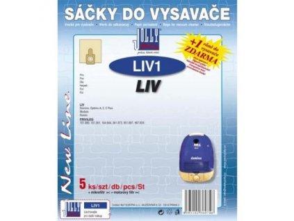 Sáčky do vysavače Jolly LIV 1 (5+1+1ks) do vysav. LIV Domino, Optimo, Modulo