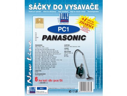 Sáčky do vysavače Jolly PC 1 (6+1ks) do vysav. PANASONIC
