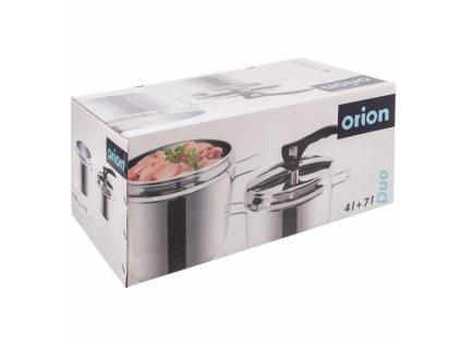 Nerezový tlakový hrnec Orion Profi, 4 l + 7 l