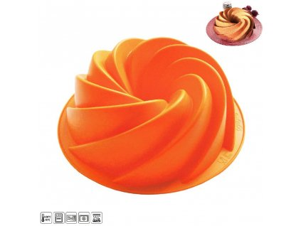 Silikonová forma Bábovka Flower, průměr 23,5 cm