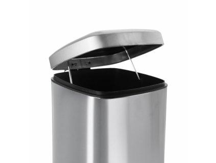 Koš odpadkový, 12 l s pedálem, nerez/UH