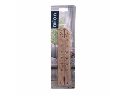 Dřevěný pokojový teploměr, délka 20 cm
