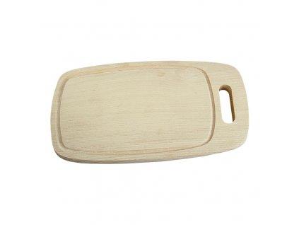 Dřevěné krájecí prkénko ovál, 32,5 x 18 cm