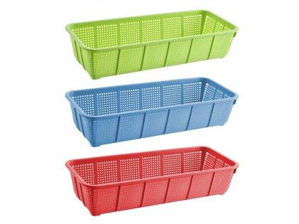 Plastový úložný košík, 35 x 15,5 cm