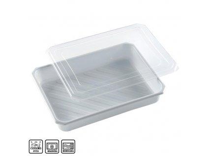 Plastová dóza na potraviny s víkem, 4 l
