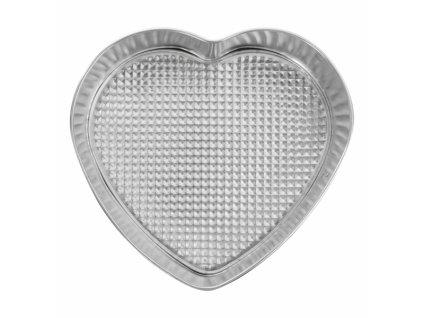 Kovová pečící forma na dort Srdce, průměr 24 cm