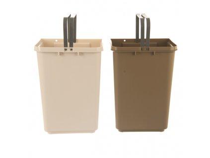 Plastový odpadkový koš Duo Dust, 40 l