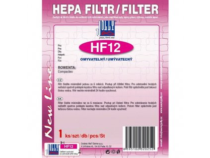 Filtr HEPA Jolly HF12 pro Rowenta Compacteo,omyvatelný