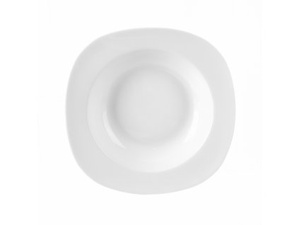 Porcelánový hluboký talíř Luna, 21 x 21 cm