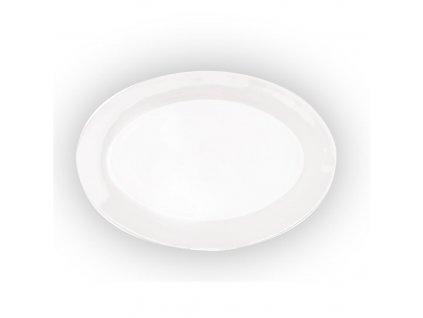 Porcelánový oválný talíř, 35,5 x 24 cm